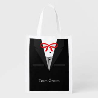 Old Fashioned Black Tuxedo Reusable Grocery Bags