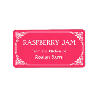 Old Fashioned Border Raspberry Jam Jar Label