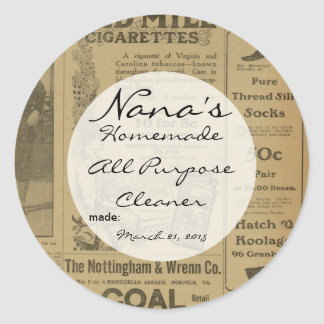 Old Fashioned Canning lid cover for 2.5 inch lid Classic Round Sticker