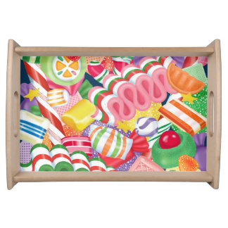 Old Fashioned Christmas Candy Serving Tray