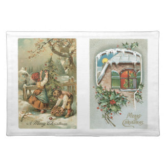 Old Fashioned Christmas Holiday Joy Kids Place Mat