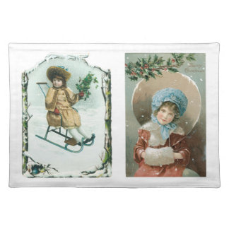 Old Fashioned Christmas Holiday Joy Kids Placemats