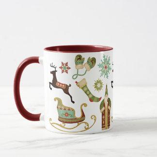 Old Fashioned Christmas Images Mug