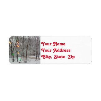 Old Fashioned Christmas Lights Return Address Return Address Label