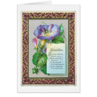 Old-fashioned Christmas, Morning glory Card
