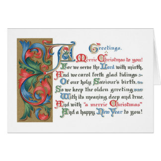 Old-fashioned Christmas, Old type Card