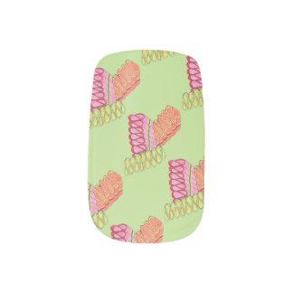 Old Fashioned Christmas Ribbon Candy Foodie Nails Minx Nail Art