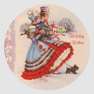 Old Fashioned Christmas Shopping Stickers