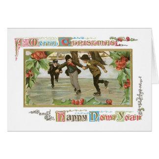 Old-fashioned Christmas, Skating rink Card