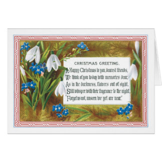 Old-fashioned Christmas, Snowdrops Card