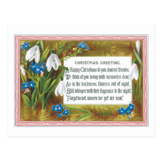 Old-fashioned Christmas, Snowdrops Postcard