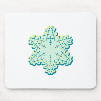 Old Fashioned Christmas Snowflake Ice Crystal Mouse Pad