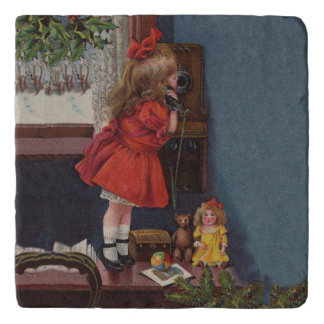 Old Fashioned Christmas telephone Trivet