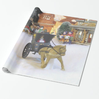 """OLD FASHIONED CHRISTMAS VILLAGE"" WRAPPING PAPER"