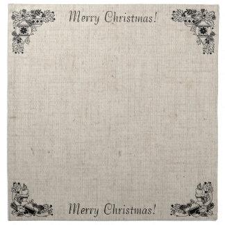 Old Fashioned Christmas Vintage Holiday Joy Napkins