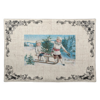 Old Fashioned Christmas Vintage Holidays Place Mats