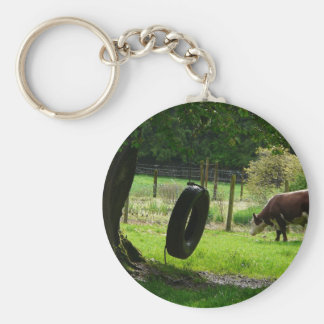 Old Fashioned Country Tire Swing Keychain