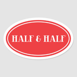 Old Fashioned Dairy Red Oval Label Half and Half