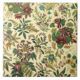 Old Fashioned Floral Abundance Tile