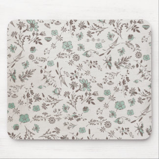 old fashioned Flowers Background Mouse Pads