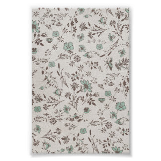 old fashioned Flowers Background Print