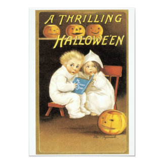 """Old Fashioned Halloween Ghost Story Kids 5"""" X 7"""" Invitation Card"""