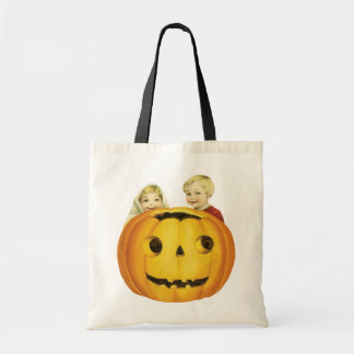 Old-fashioned Halloween, Jack-o'-lantern(Pumpkin) Tote Bag