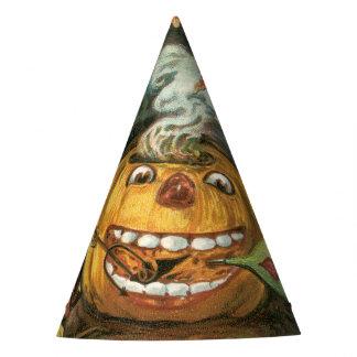 Old-fashioned Halloween, Pumpkin & Devils Party Hat