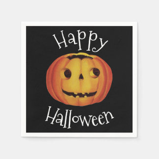 Old-fashioned Halloween, Pumpkin (jack-o'-lantern) Napkin