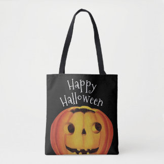 Old-fashioned Halloween, Pumpkin (jack-o'-lantern) Tote Bag