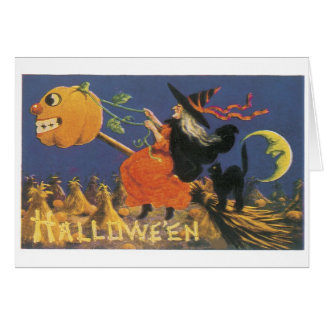 Old-fashioned Halloween, Witch Card