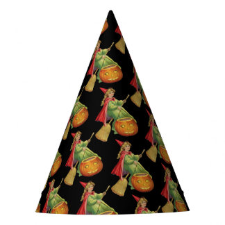 Old-fashioned Halloween, Witch girl Party Hat
