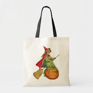 Old-fashioned Halloween, Witch girl Tote Bag