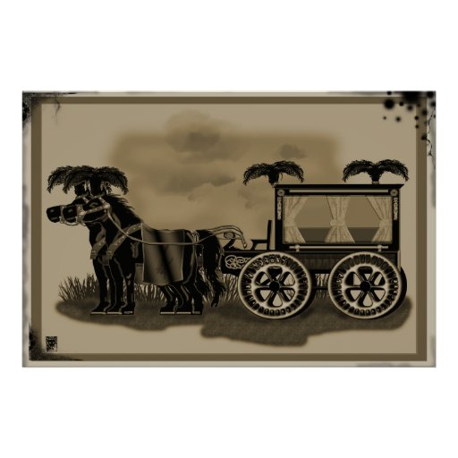 old fashioned hearse posters
