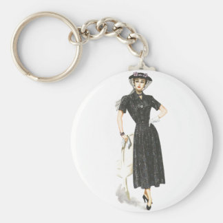 Old Fashioned Lady Keychain