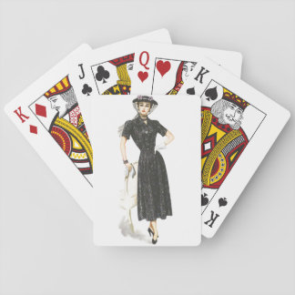 Old Fashioned Lady Playing Cards