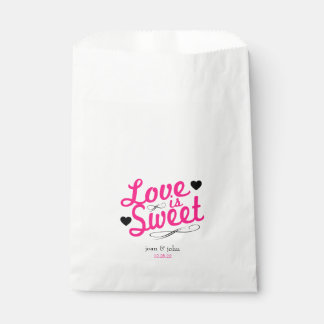 Old Fashioned Love Is Sweet Favor Bags (Hot Pink)