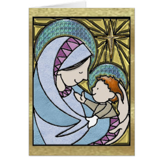 Old Fashioned Madonna and Child Greeting Card