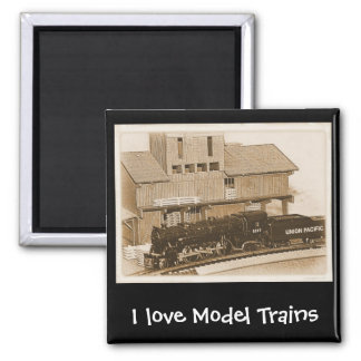 Old Fashioned Model Train Photo Magnet