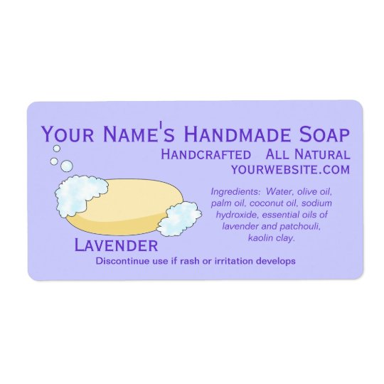 Old Fashioned Natural Soap Labels Design Template