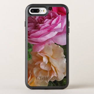 Old Fashioned Pink Roses Garden Flowers OtterBox Symmetry iPhone 7 Plus Case