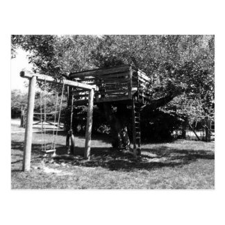 Old Fashioned Playground Postcard