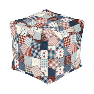 Old Fashioned Quilt Design Pouf