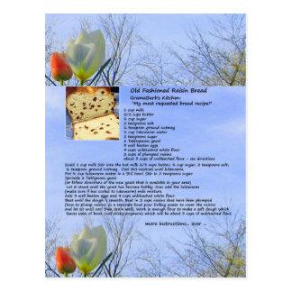 Old Fashioned Raisin Bread Recipe Postcard