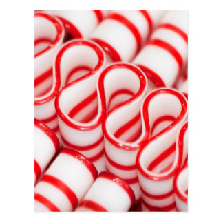 Old Fashioned Red and White Ribbon Candy Postcard