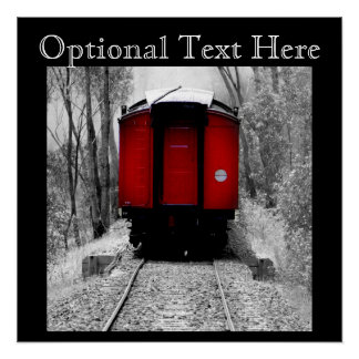 Old Fashioned Red Steam Train Perfect Poster