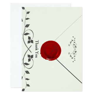 Old-Fashioned Red Wax Seal Letter Card