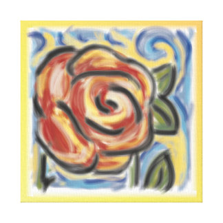 'Old fashioned rose' 11x11 Premium Canvas (Gloss)