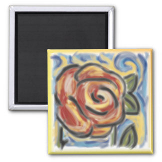 Old fashioned rose magnet