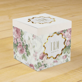 Old-Fashioned Rose Pattern Favor Box